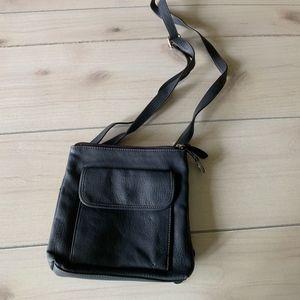 relic purse navy leather crossbody